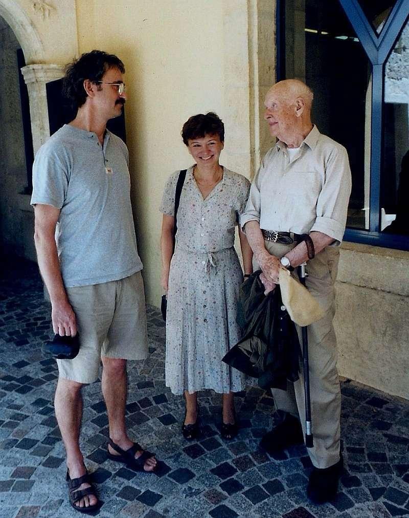 Kincses Károly, Kolta Magdolna és Henri Cartier-Bresson 1998.
