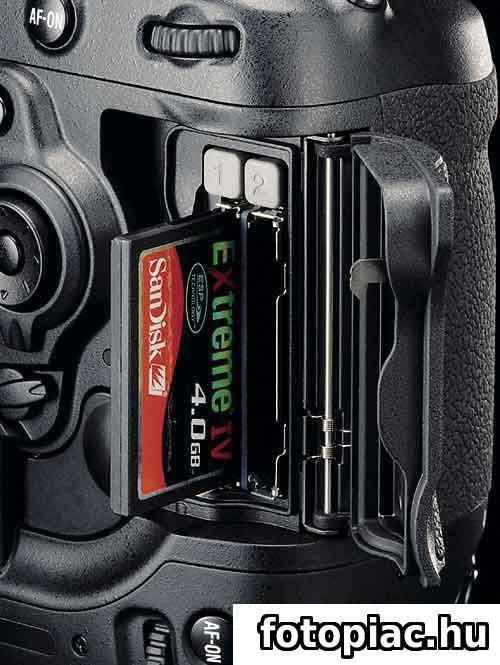 A digitális fényképezőgép adattárolója