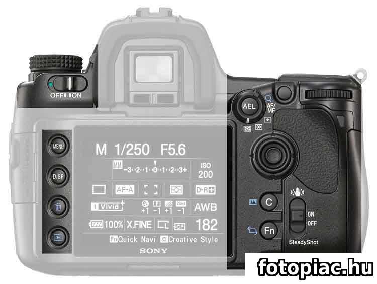 A digitális fényképezőgép szabályozására szolgáló gombok és tárcsák