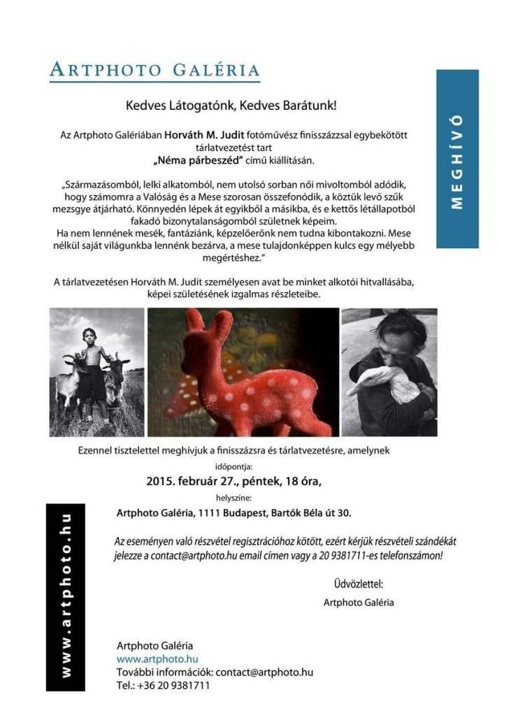 Horváth M. Judit tárlatvezetése a Néma párbeszéd kiállításán