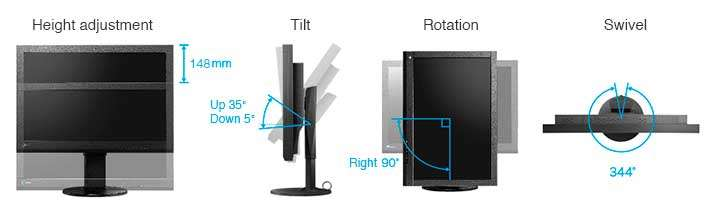 Eizo monitor ColorEdge CS270 fotósoknak és grafikusoknak beállítási lehetőségei