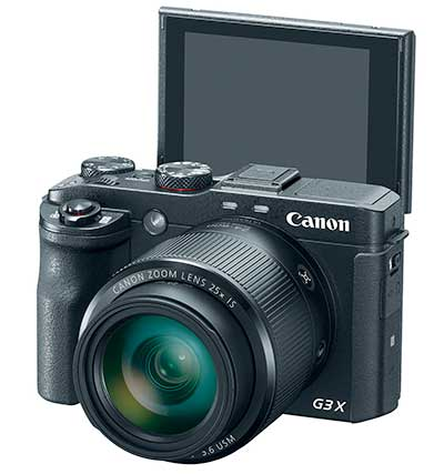 Canon G3 X prémium kompakt digitális fényképezőgép kihajtott LCD-vel