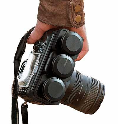 Edelkorne PocketSkater dolly felszerelt, összecsukott állapotban