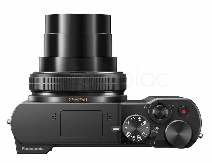 Panasonic Lumix DMC-TZ100 digitális kompakt fényképezőgép felülről