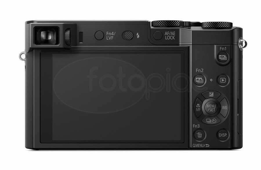 Panasonic Lumix DMC-TZ100 digitális kompakt fényképezőgép hátoldala