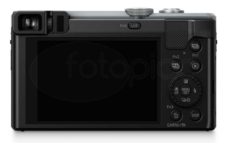 Panasonic Lumix DMC-TZ80 digitális kompakt fényképezőgép hátoldala