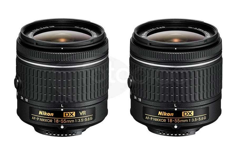 Nikon Af P Dx Nikkor 18–55mm F:3,5–5,6 G Vr és Az Af P Dx Nikkor 18–55mm F:3,5–5,6 G Objektív