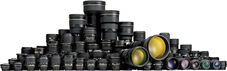 Fényképezőgép objektív választás, a Nikon kollekciója