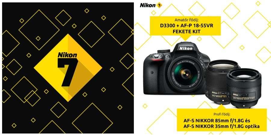 Ismét indul a NIKON 7 FOTÓPÁLYÁZAT!