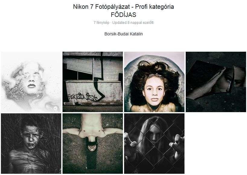 A profi kategória fődíjasa: Borsik-Budai Katalin