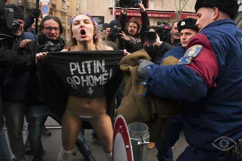 Budapesti Femen Debütálás, Magyar Sajtófotó Pályázat 2015, Reviczky Zsolt Forrás: Sajto Foto.hu