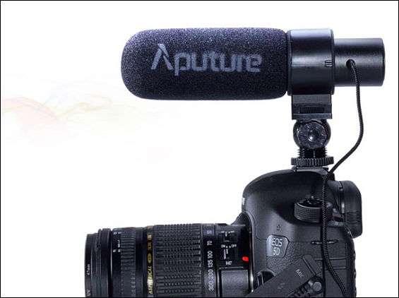 Aputure V-MIC egyszerűen felrakható.