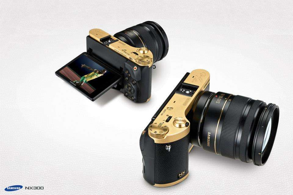 Samsung NX 300 gold