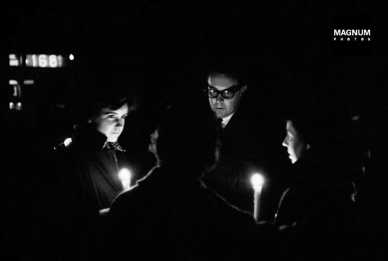 Fotó: René Burri: New York-i áramszünet, 1965. november 9. © Rene Burri/Magnum Photos