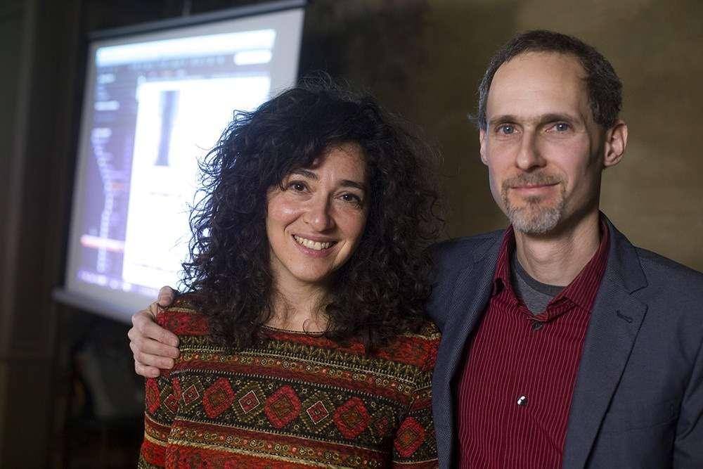 Fotó: Németh Dániel: Winkler Nóra és Czigány Ákos az Útközben programon a Mai Manó Házban, 2015. december 17.