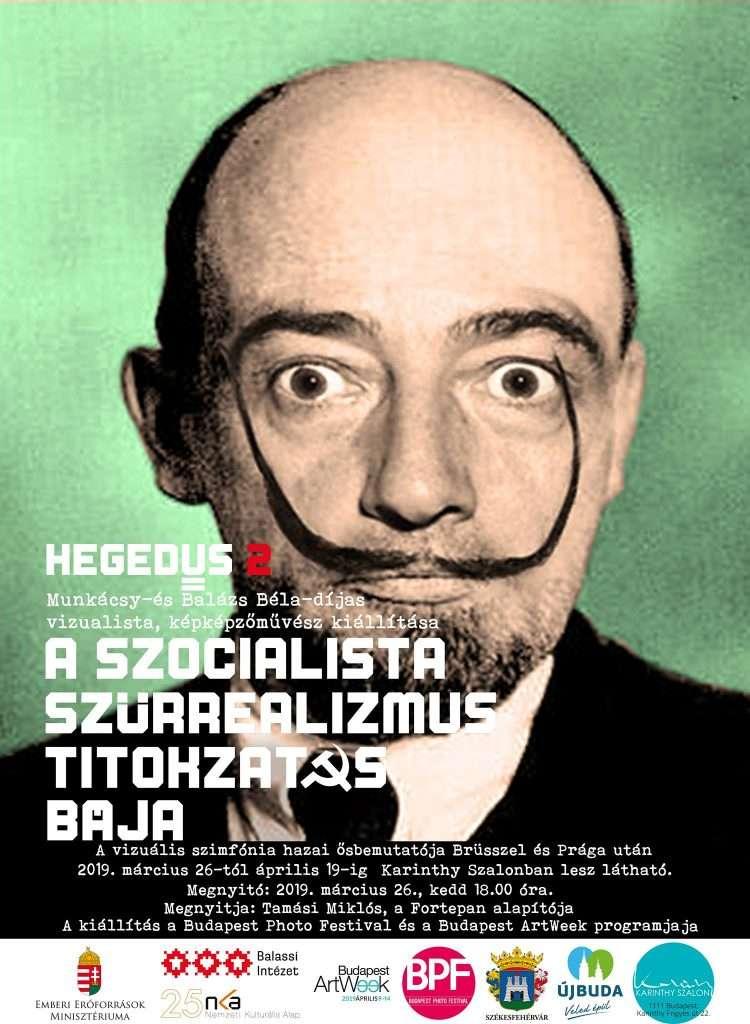 Hegedűs 2 László kiállítása a Karinthy Szalonban