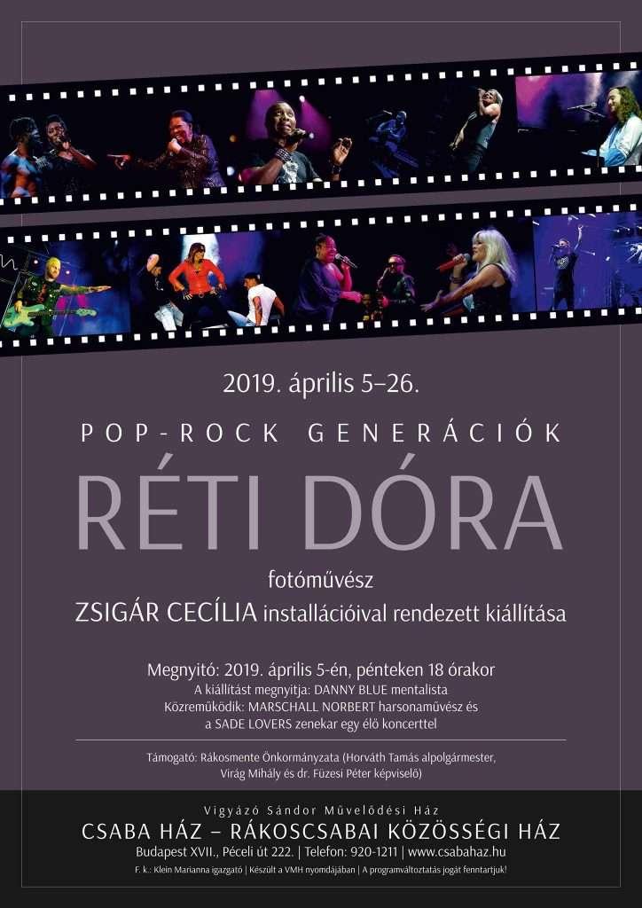 Pop-Rock generációk – Réti Dóra kiállítása