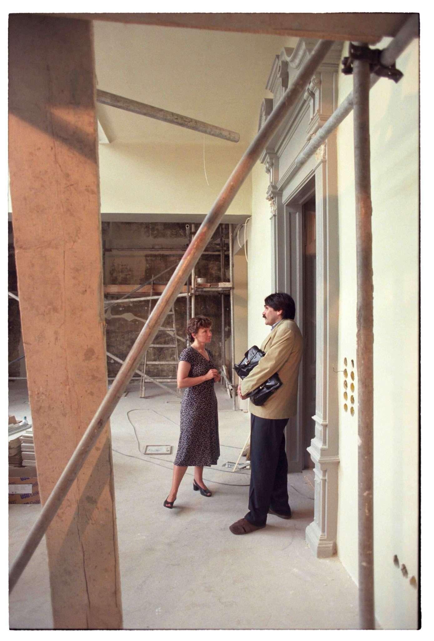 Kolta Magdolna és Török András a Napfényműteremben, 1990-es évek vége Fotó: Bánkuti András