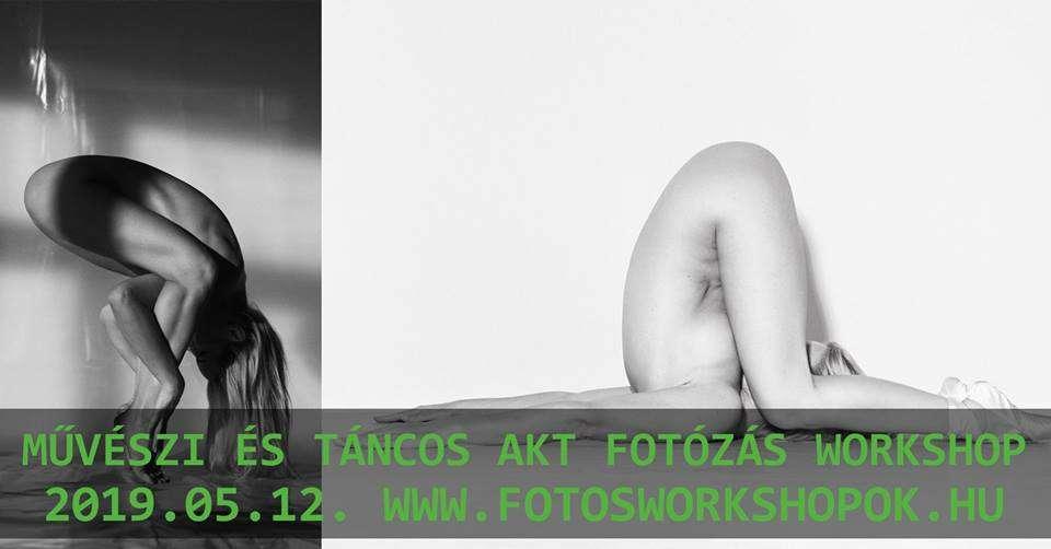 Művészi és táncos akt fotózás workshop