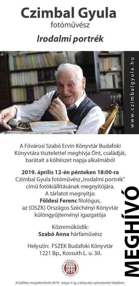 Irodalmi portrék- Czimbal Gyula kiállítása