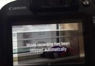 Video recording stopped StillCamera x