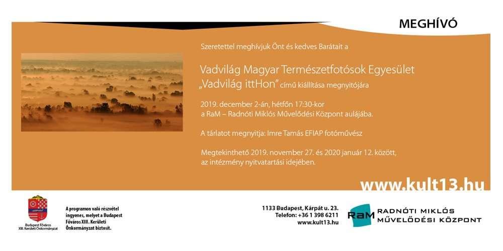 Vadvilág Magyar Természetfotósok Egyesülete kiállítása