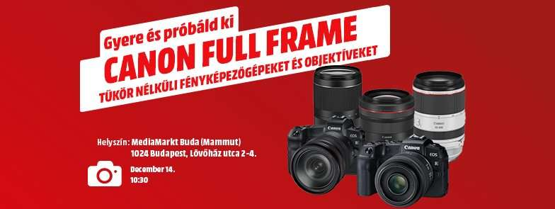 Próbáld ki a Canon Full Frame tükör nélküli fényképezőgépeit!