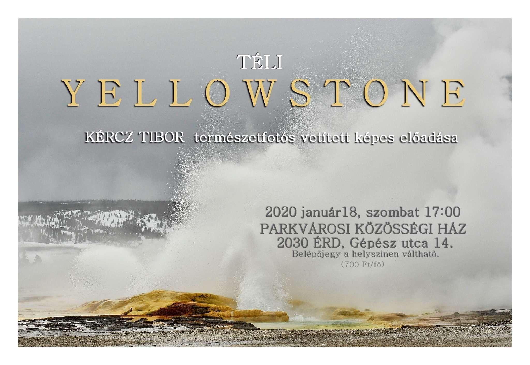 Téli Yellowstone – vetített képes előadás