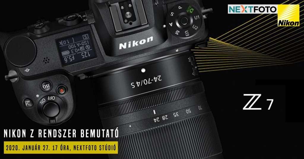 Nikon Z rendszer bemutató a Nextfotonál