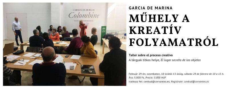 García de Marina műhelyt tart a kreatív folyamatról