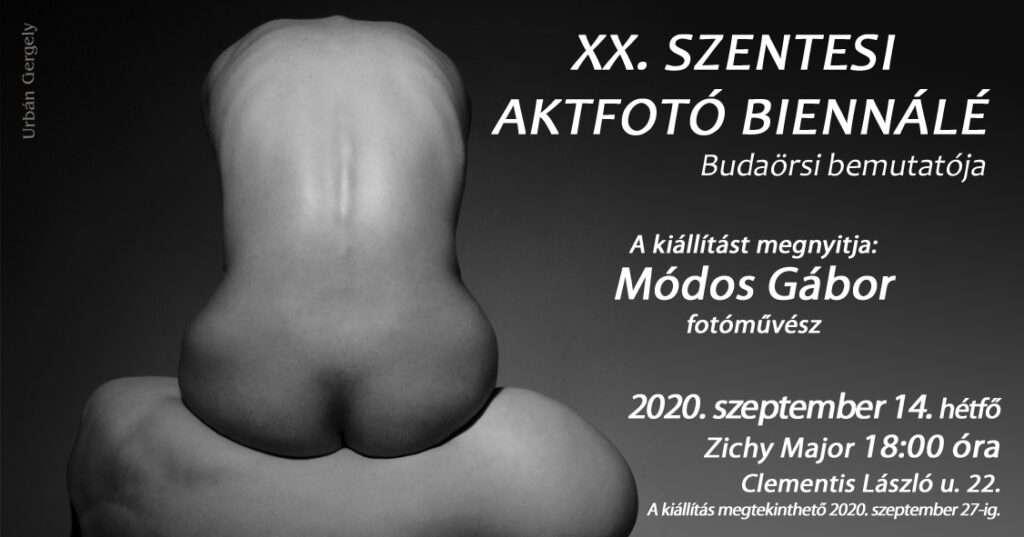 XX. SZENTESI AKTFOTÓ BIENNÁLÉ budaörsi bemutatója