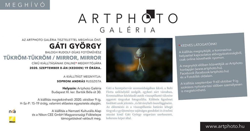 Gáti György: Tükröm-tükröm / Mirror, Mirror (Kronstadt) – fotókiállítás az Artphoto Galériában