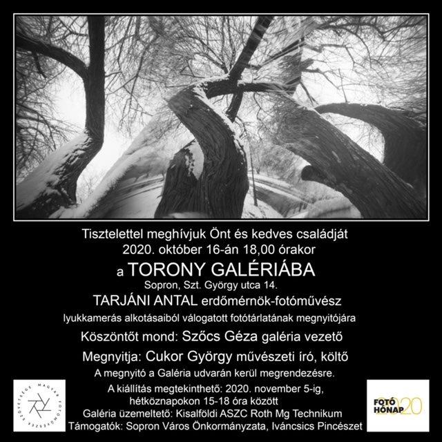 Tarjáni Antal fotóművész kiállítása a Lyukkamerás képeiből készült válogatása