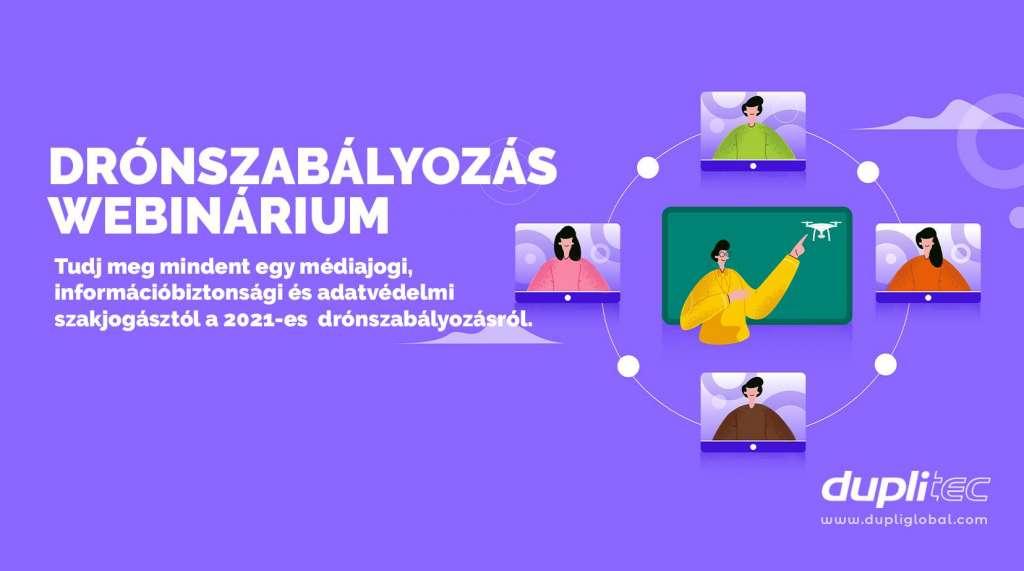 DRÓNSZABÁLYOZÁS'21 WEBINÁRIUM