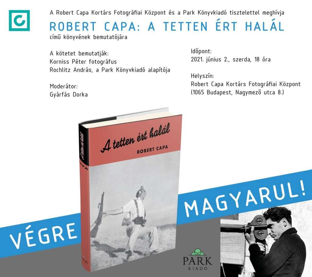 Robert Capa: A tetten ért halál – könyvbemutató