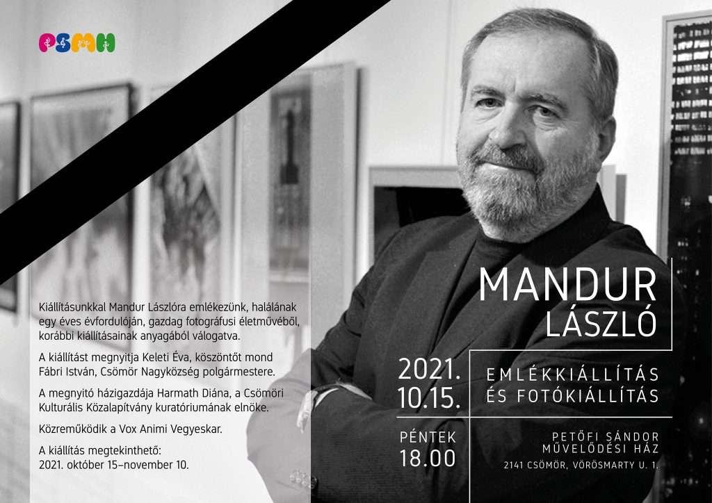 Mandur László emlékkiállítás-fotó kiállítás