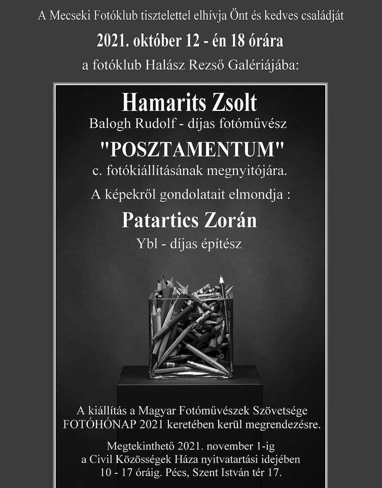 Hamarits Zsolt – POSZTAMENTUM című kiállításának megnyitója