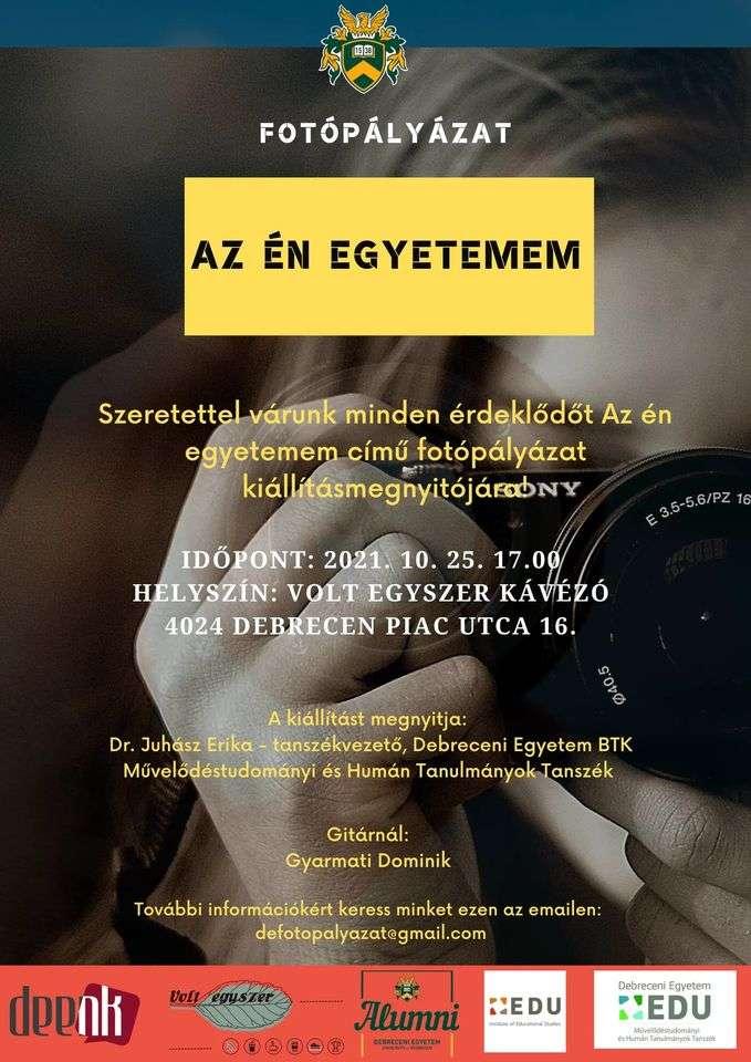 Az én egyetemem fotópályázat kiállításmegnyitója