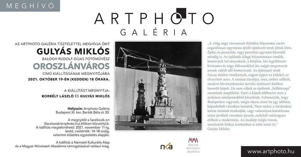 Gulyás Miklós fotóművész Oroszlánváros című kiállításának megnyitója
